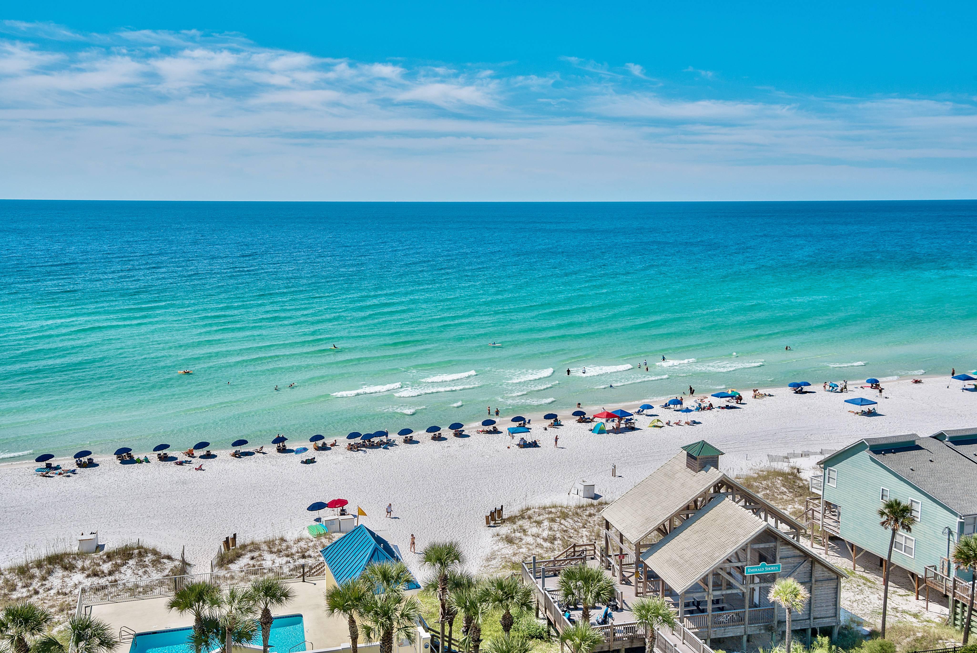 View over the Emerald Shores Pavillion in Destin, Florida!