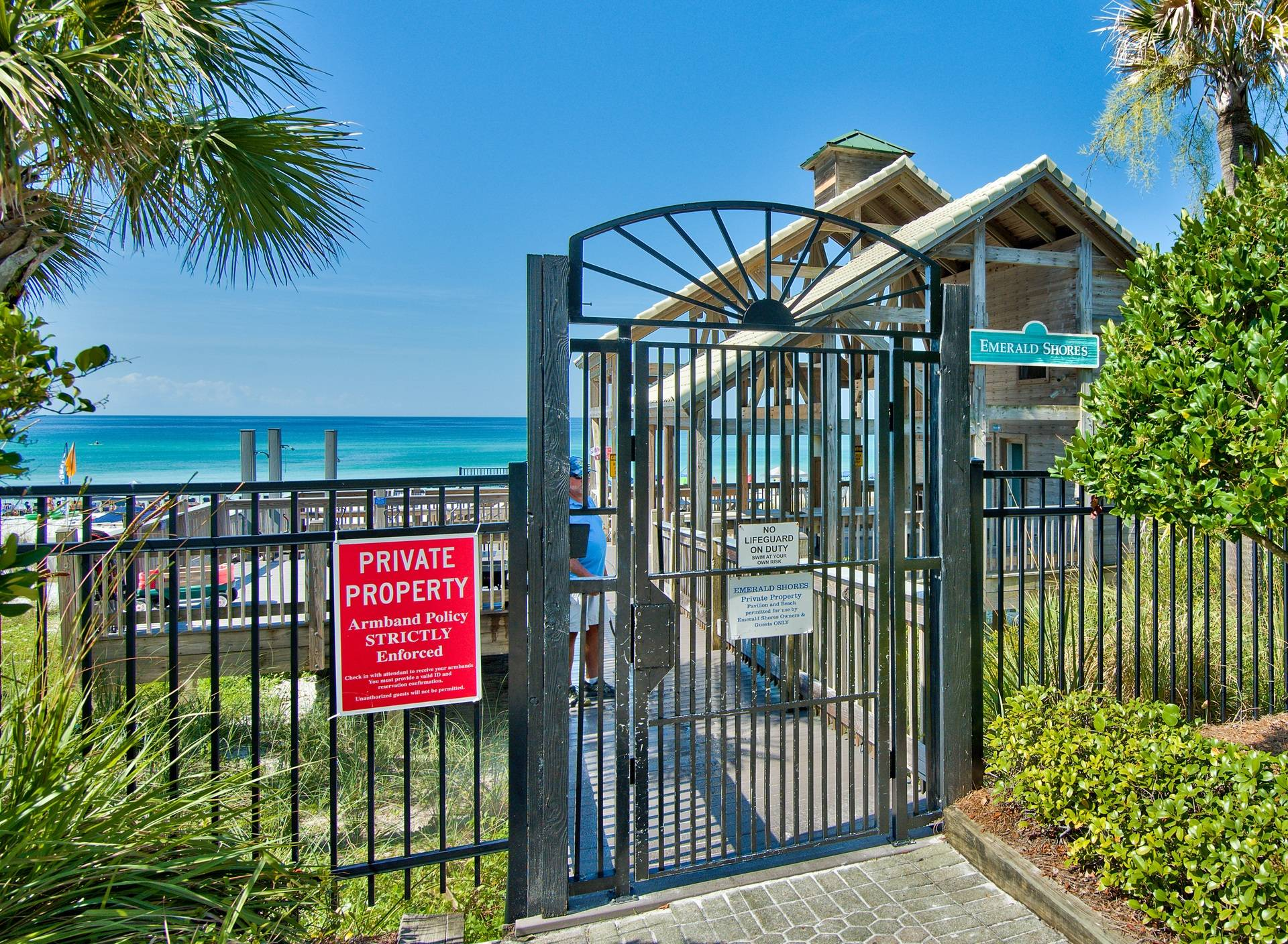Private Beach Access for Emerald Shores guests